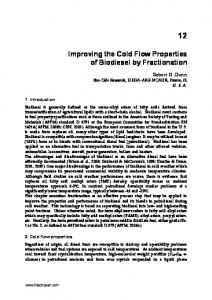 12 Improving the Cold Flow Properties of Biodiesel by Fractionation