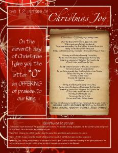 12 Letters of Christmas Pages Facebook - Covenant Fellowship ...