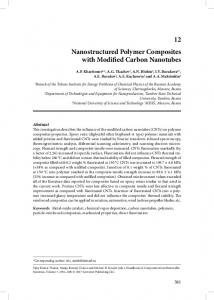 12 Nanostructured Polymer Composites with Modified