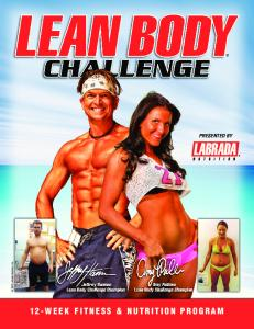 12-WEEK FITNESS & NUTRITION PROGRAM - Labrada Nutrition