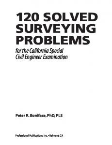 120 SOLVED SURVEYING PROBLEMS