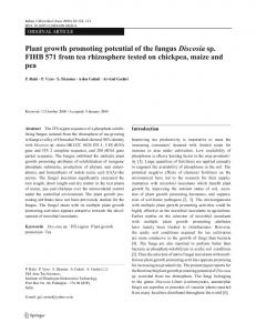 123 Plant growth promoting potential of the fungus ... - Springer Link