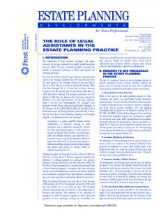 12856-Estate Planning-Oct 2010 - SSRN papers