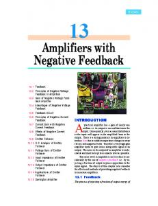 13. Amplifiers With Negative Feedback - Talking Electronics