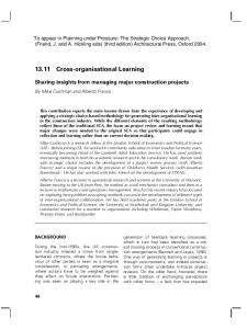 13.11 Cross-organisational Learning