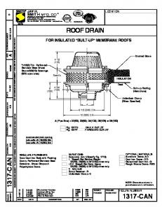 1317-CAN Roof Drain for Insulated