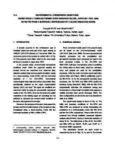 13.4 environmental atmospheric conditions under which a tornado