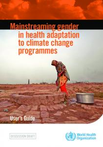 1350 PHE Mainstreaming Gender Climate 231112.indd