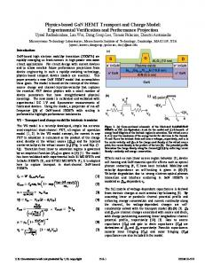 13.6 Physics-Based GaN HEMT Transport and Charge Model