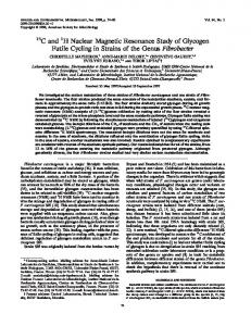 13C and 1H Nuclear Magnetic Resonance Study of Glycogen Futile ...