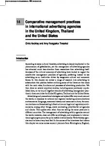 14 Comparative management practices in international advertising ...