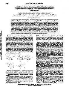 1,4-Di-O-tert-alkyl-l-threitols as Chiral Auxiliaries in the Asymmetric ...