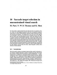 14 Saccade target selection in unconstrained visual search