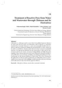 14 Treatment of Reactive Dyes from Water and ...