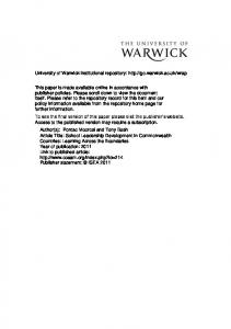 140Kb - Warwick WRAP - University of Warwick