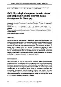(143) Physiological responses to water stress and ...