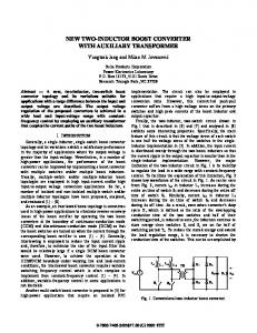 14.7 New Two-Inductor Boost Converter with ... - Semantic Scholar