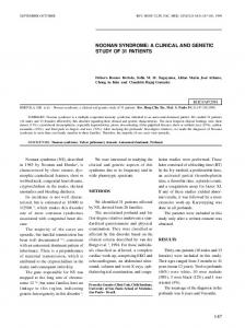 147 noonan syndrome: a clinical and genetic study ... - Semantic Scholar