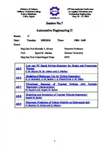 14th International Conference on   Applied Mechanics ...