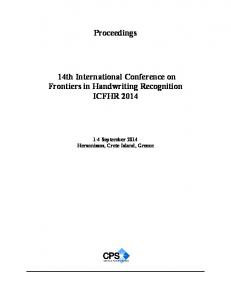 14th International Conference on Frontiers in ...