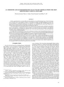 15. Chemistry and Geothermometry of Secondary Minerals from the ...