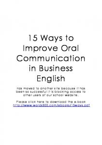 15 Ways to Improve Oral Communication in Business English