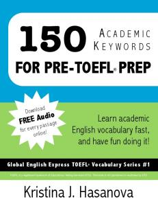 150 Academic Words for Pre-TOEFL prep - ESL Mania