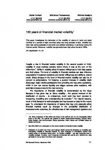 150 years of financial market volatility - SSRN