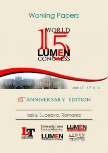 15th Anniversary Edition World LUMEN Congress ...