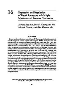 16 Expression and Regulation of Death Receptors in Multiple ...