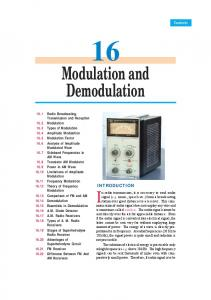 16. Modulation And Demodulation - Talking Electronics