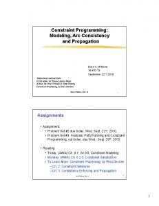 16.410 Lecture 05: Constraint Programming: Modeling, Arc ...