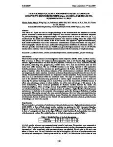 165 THE MICROSTRUCTURE AND PROPERTIES OF ALUMINIUM ...