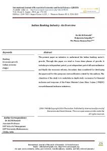 174 Indian Banking Industry- An Overview