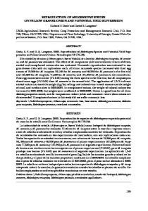 179 reproduction of meloidogyne species on yellow granex onion and ...