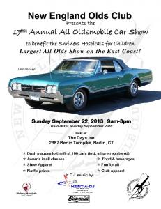 17th Annual All Oldsmobile Car Show