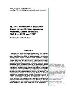 18. data report: high-resolution stable isotope records across the ...