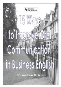 18 ways to improve communication in business English