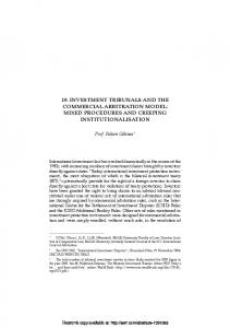 19. investment tribunals and the commercial arbitration ... - SSRN papers