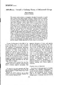 (1977). Self-efficacy: Toward a unifying theory of behavioral change