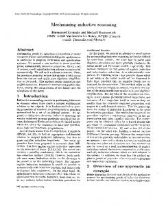 1990-Mechanizing Inductive Reasoning - Semantic Scholar