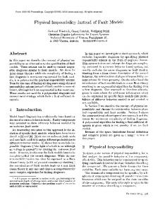 1990-Physical Impossibility Instead of Fault Models - Semantic Scholar