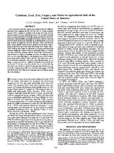 (1993) Cadmium, Lead, Zinc, Copper, and Nickel in Agricultural Soils ...