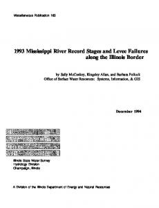 1993 Mississippi River record stages and levee failures along the ...