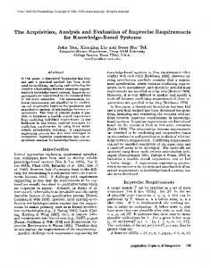 1994-The Acquisition, Analysis and Evaluation of ... - Semantic Scholar