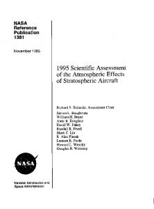 1995 Scientific Assessment of the Atmospheric Effects ... - NTRS - NASA