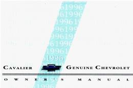 1996 Chevrolet Cavalier Owners Manual
