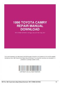 1996 toyota camry repair manual free productmanualguide 1996 toyota camry repair manual download pdf 1tcrmd 10gtom 6 fandeluxe Images
