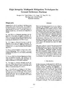1997: high integrity multipath mitigation techniques for ground ...