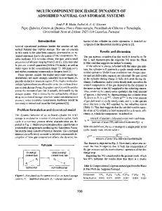 1999: Multicomponent Discharge Dynamics of Adsorbed Natural Gas ...